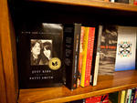 Patti Smith's memoir Just Kids on a shelf in St. Mark's Bookshop