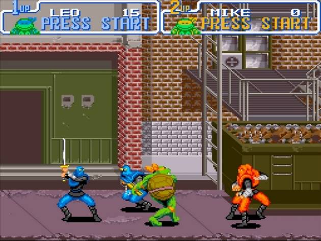 ('Tortues Ninja IV' sur Super NES / DR)