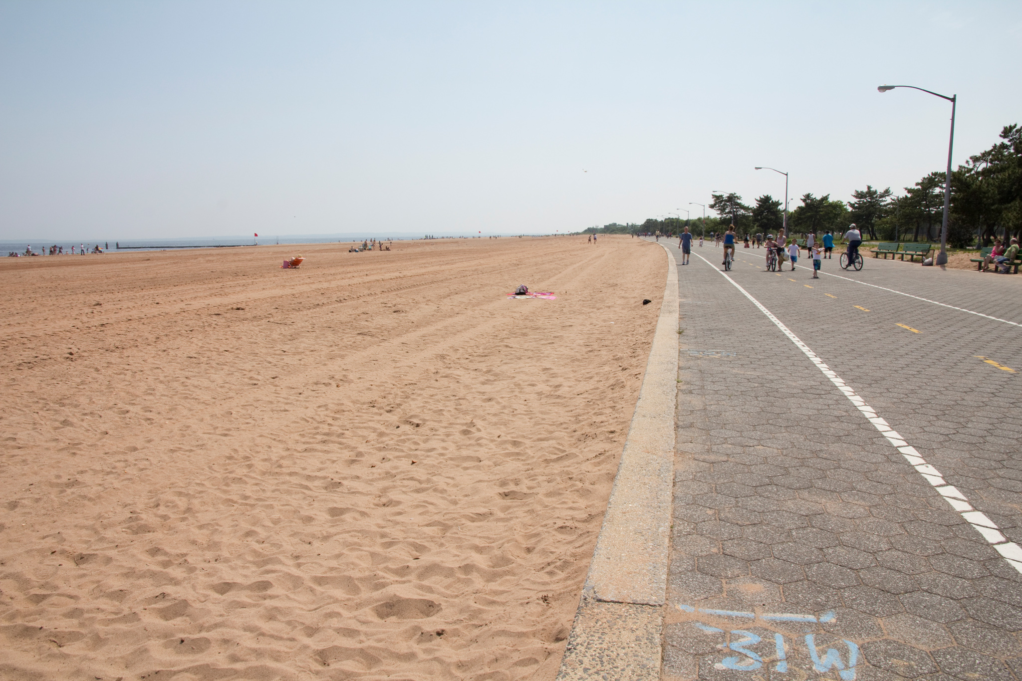 The Bike Path Along Midland Beach
