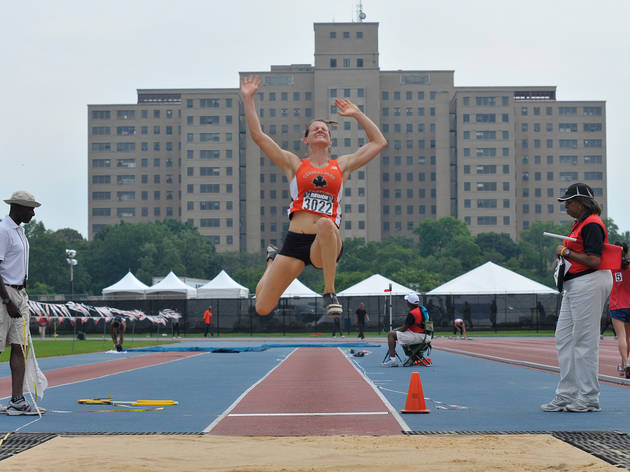 Long jump (track and field) (Photograph: Sue Pearsall)