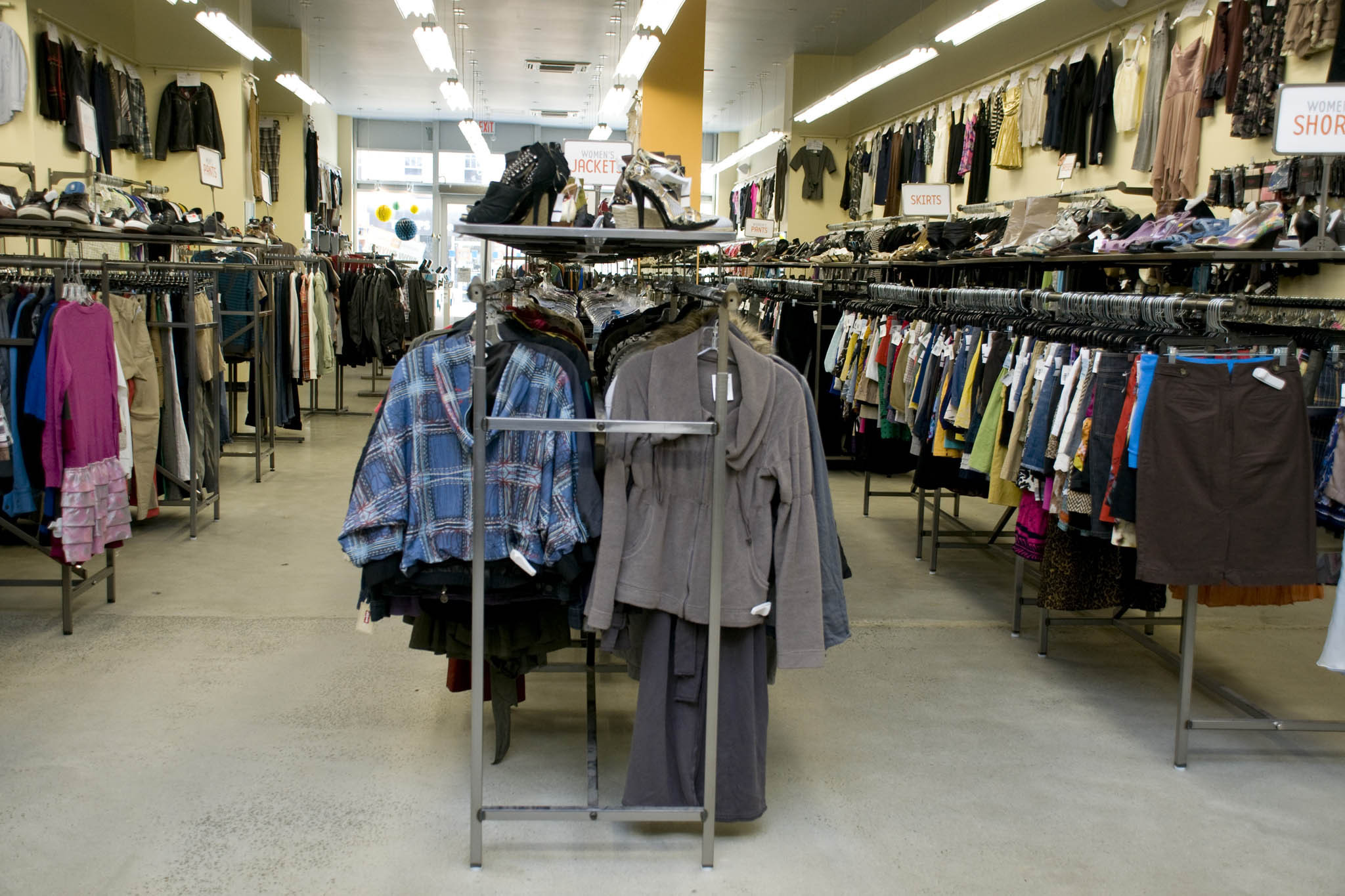 The net clothing store in the gallery