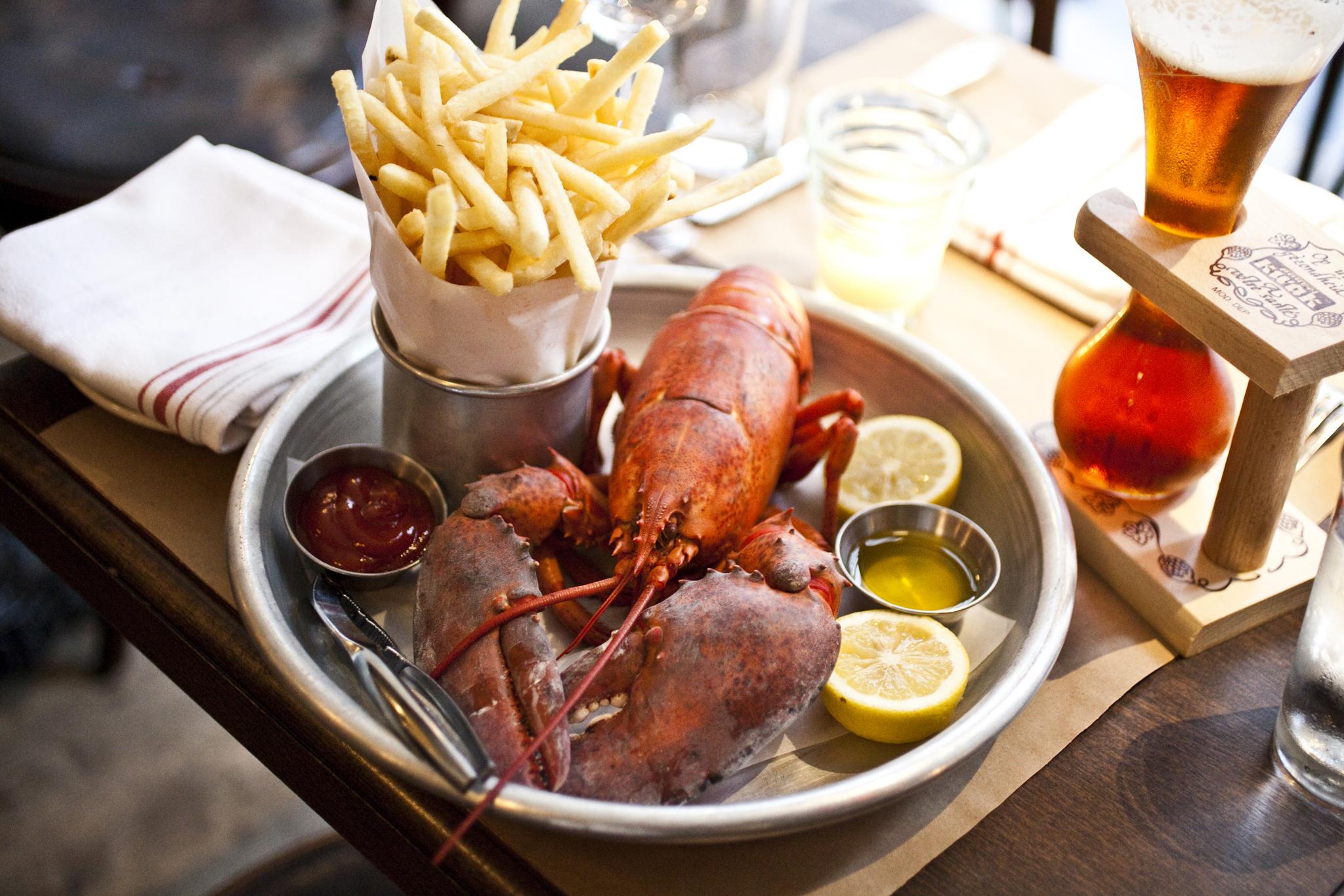 Steamed lobster at Ken & Cook