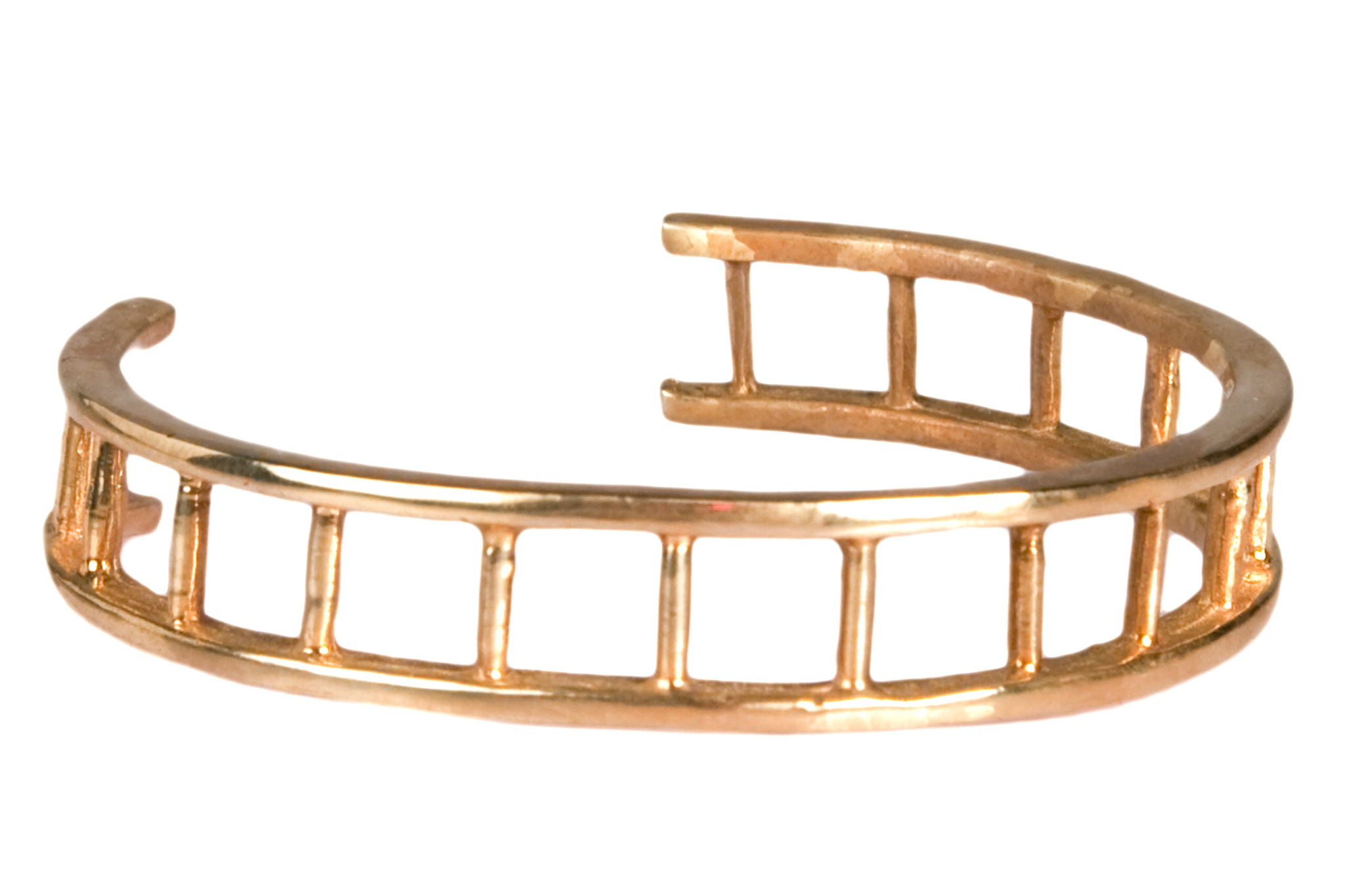 VeraMeat gold brass adjustable ladder bracelet, $160