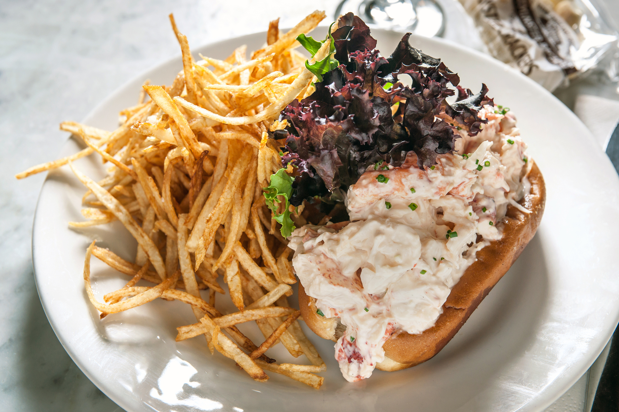 Lobster roll at Pearl Oyster Bar
