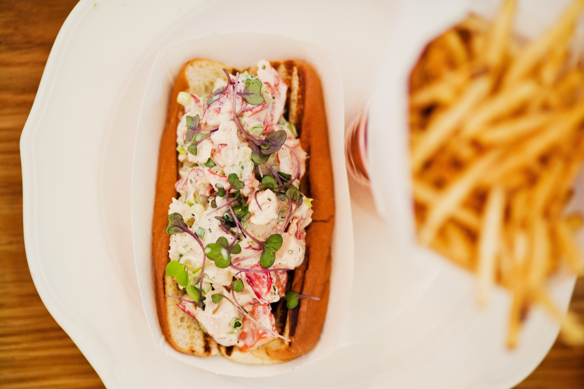 The Down East Maine lobster roll at the Standard Grill