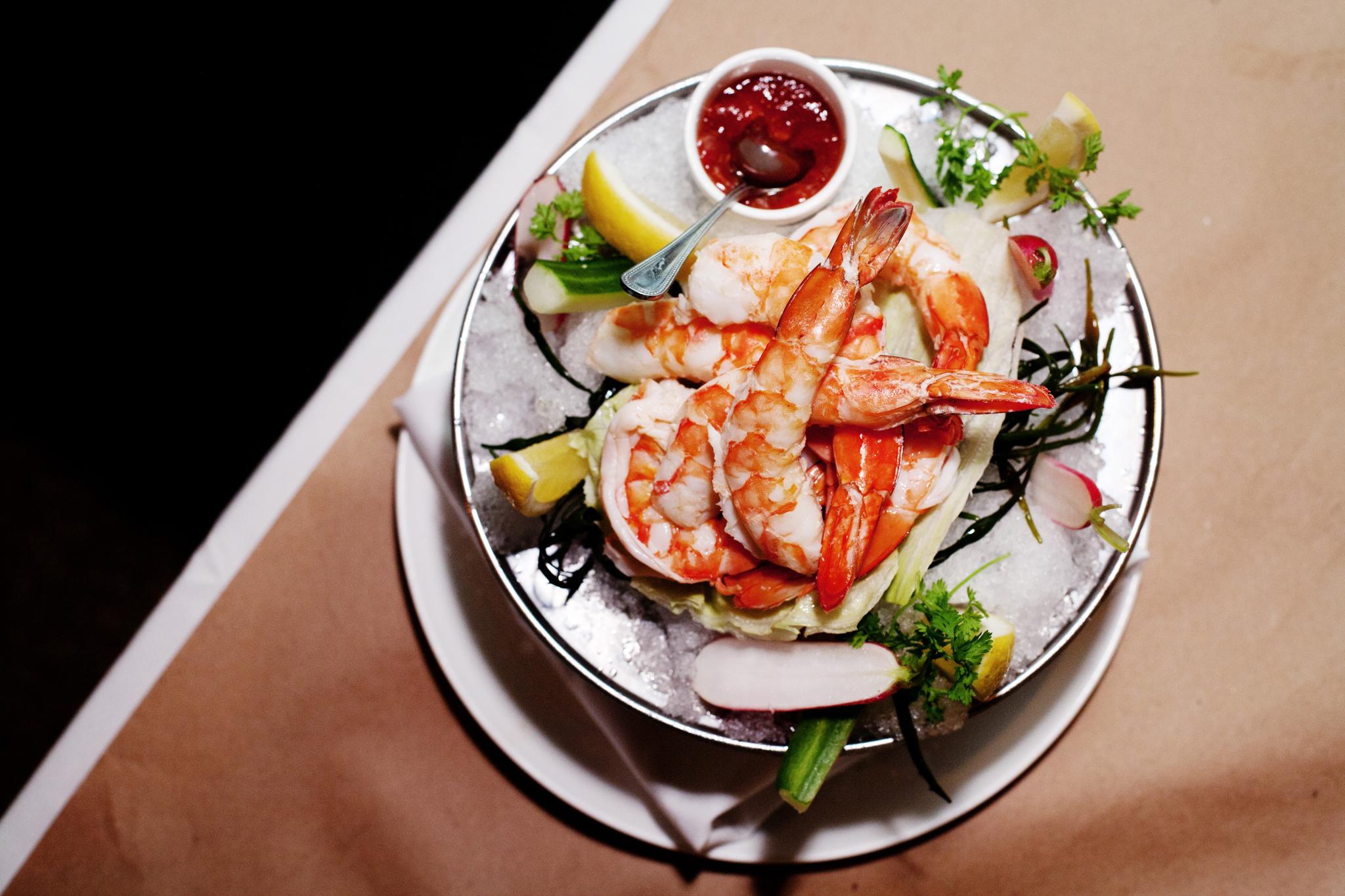 Shrimp cocktail at Saxon + Parole
