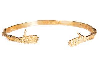 VeraMeat gold brass hands bracelet, $140