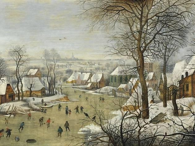 Galerie d'Art Saint-Honoré (Peter Brueghel Le Jeune, 'Paysage d'hiver avec trappe à oiseaux' / © DR )
