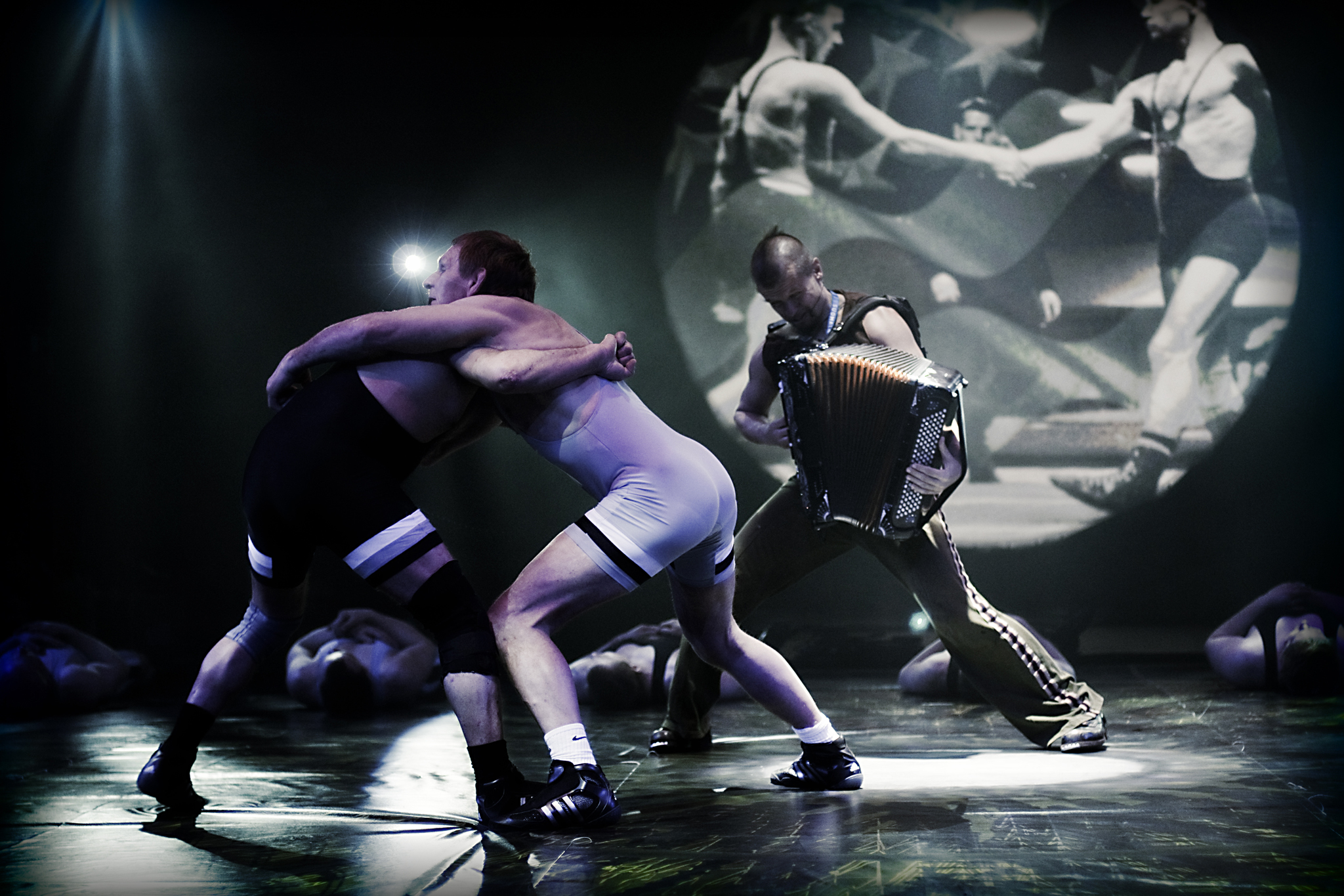 Accordion Wrestling hits the mats at Lincoln Center Out of Doors