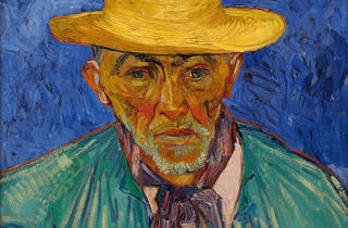 """Vincent van Gogh's """"Portrait of a Peasant (Patience Escalier)"""""""