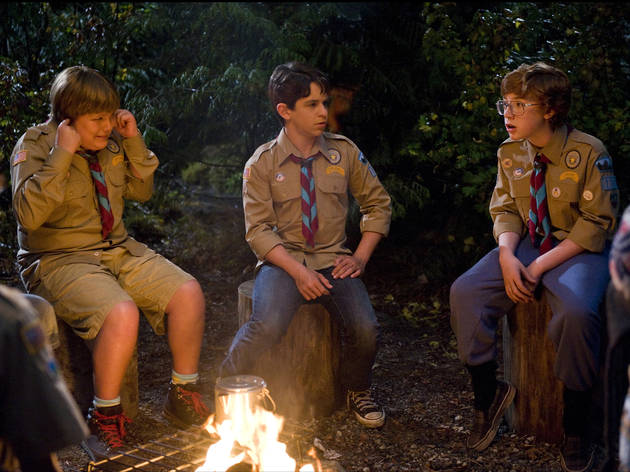 Left to right: Robert Capron, Zachary Gordon and Grayson Russell in Diary of a Wimpy Kid: Dog Days