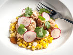 Sweetbreads with sweet-corn esquites at Empellon Cocina