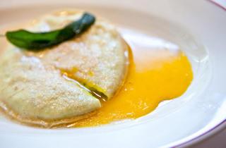 Raviolo al uovo at Maialino