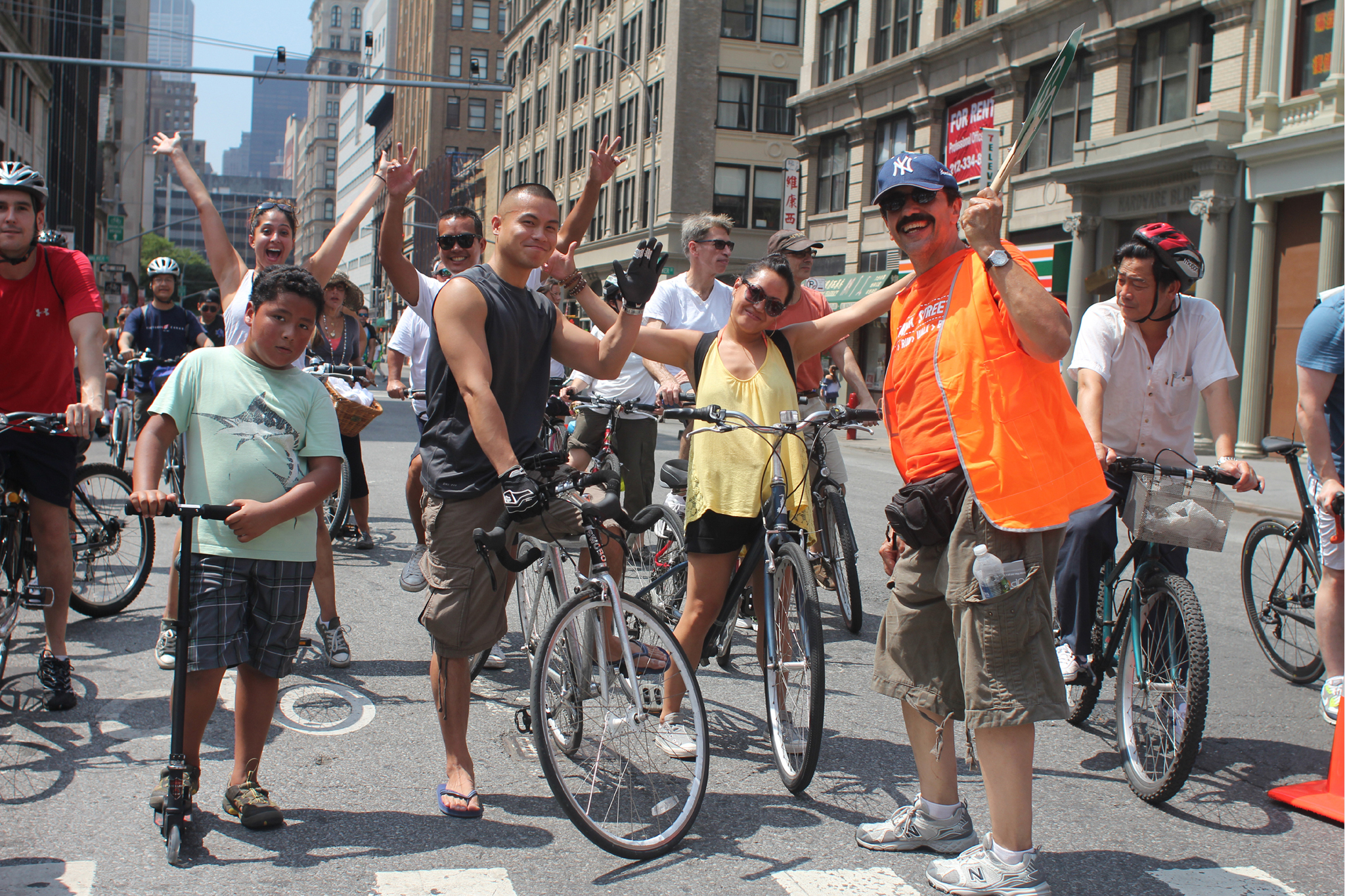 Stroll, cycle or zip along car-free avenues during Summer Streets