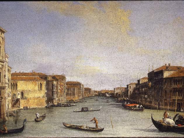 (Canaletto, 'Vue du Canal Grande de Palazzo balbi vers Rialto', circa 1726-1728 / Florence, Galleria degli Uffizi / © Su concessione del Ministero per i Beni e le Attività Culturali)