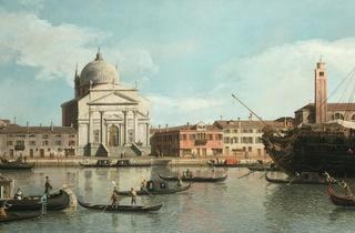 (Canaletto, 'Vue des églises du Redentore et de San Giacomo', 1747-1755 / Collection particulière, Courtesy of Galerie de Jonckeere / © Galerie de Jonckeere)