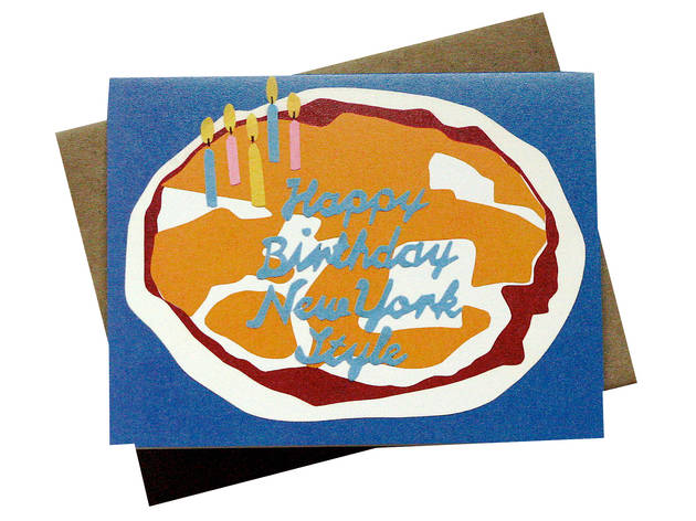 1 11 Everyone Knows That New York Pizza Is Tops So Wish Your Nearest And Dearest A Superlative Birthday With This Recycled Paper Card Based On Hand Cut