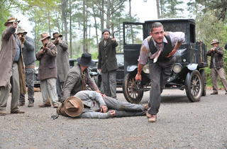 Shia LaBeouf, front, in Lawless