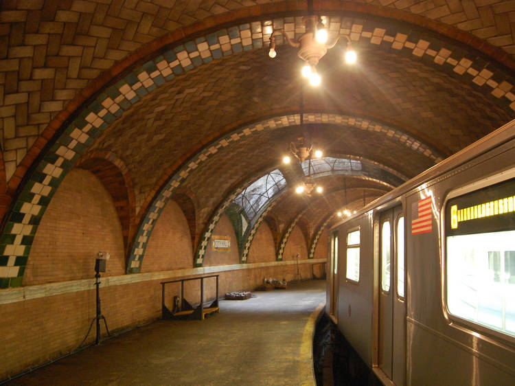 Walk through an abandoned subway station