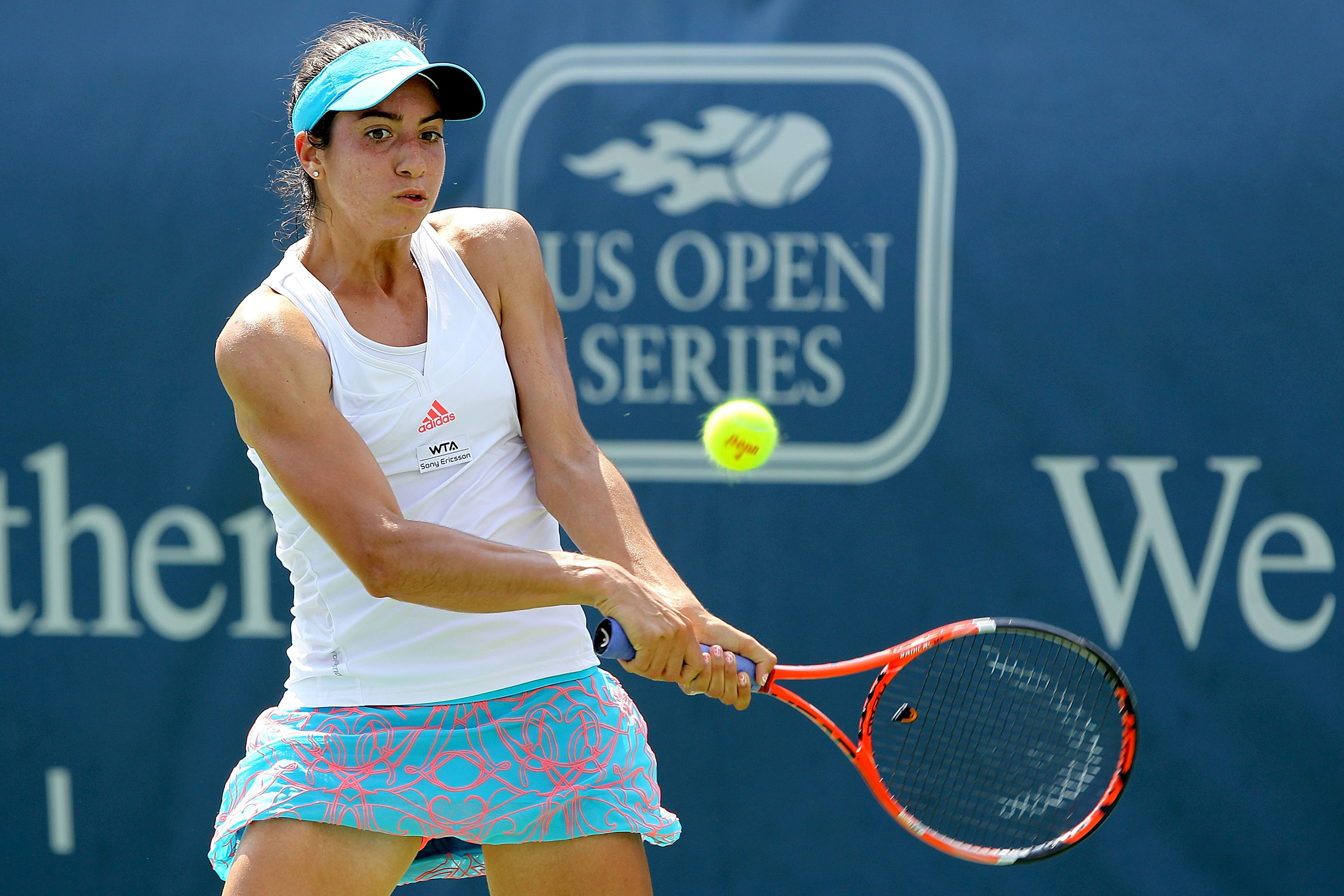 Christina McHale seen playing in the US Open