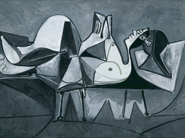 "Pablo Picasso, Reclining Woman Reading on display at the Guggenheim's ""Picasso Black and White"" exhibition, one of Time Out's 101 things to do in New York City in the fall"