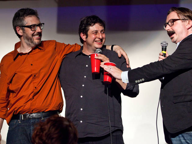Chuckle at a festival celebrating comedy, Eugene Mirman