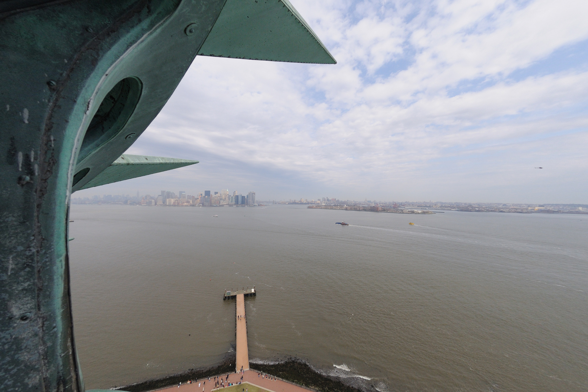 View from the crown of the Statue of Liberty