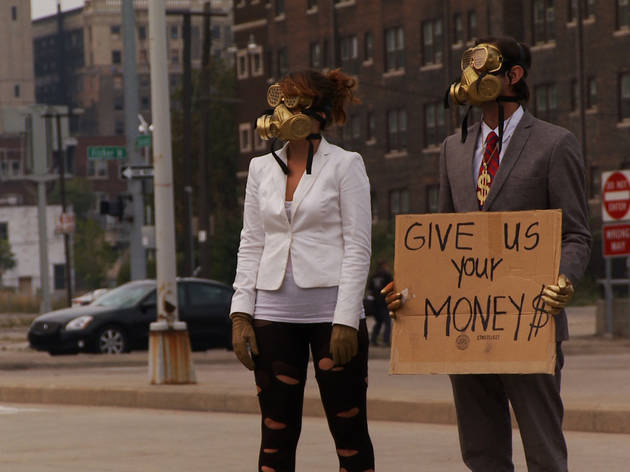 Two performance artists stage a protest in Detropia