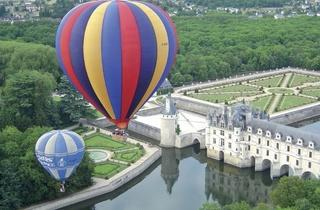 Hot-air ballooning in the Loire Valley