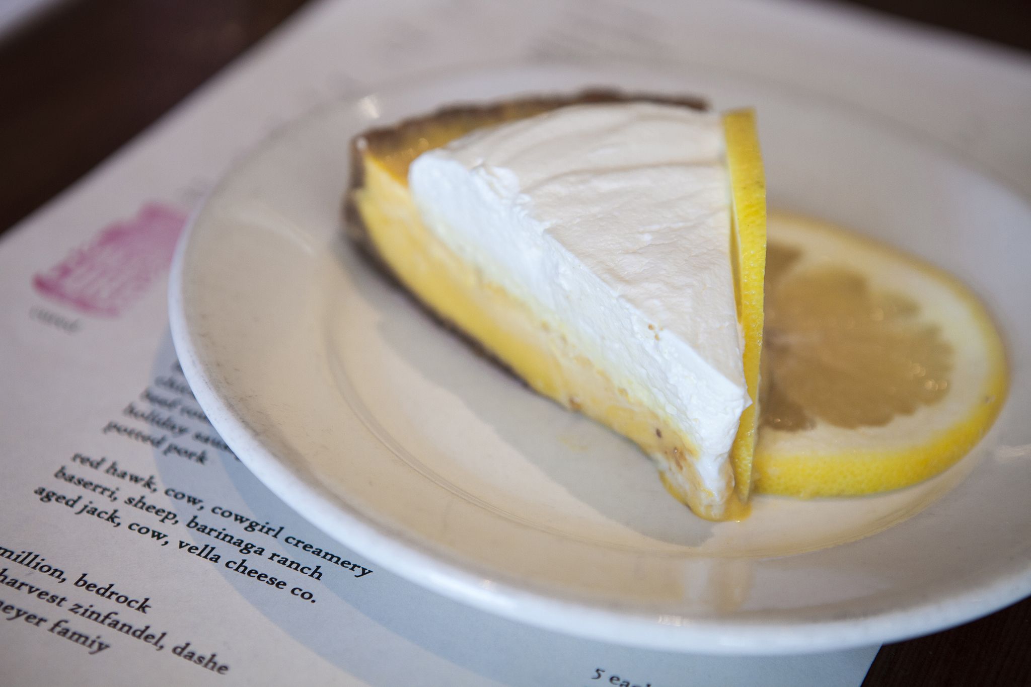 Grapefruit pie at Salt's Cure
