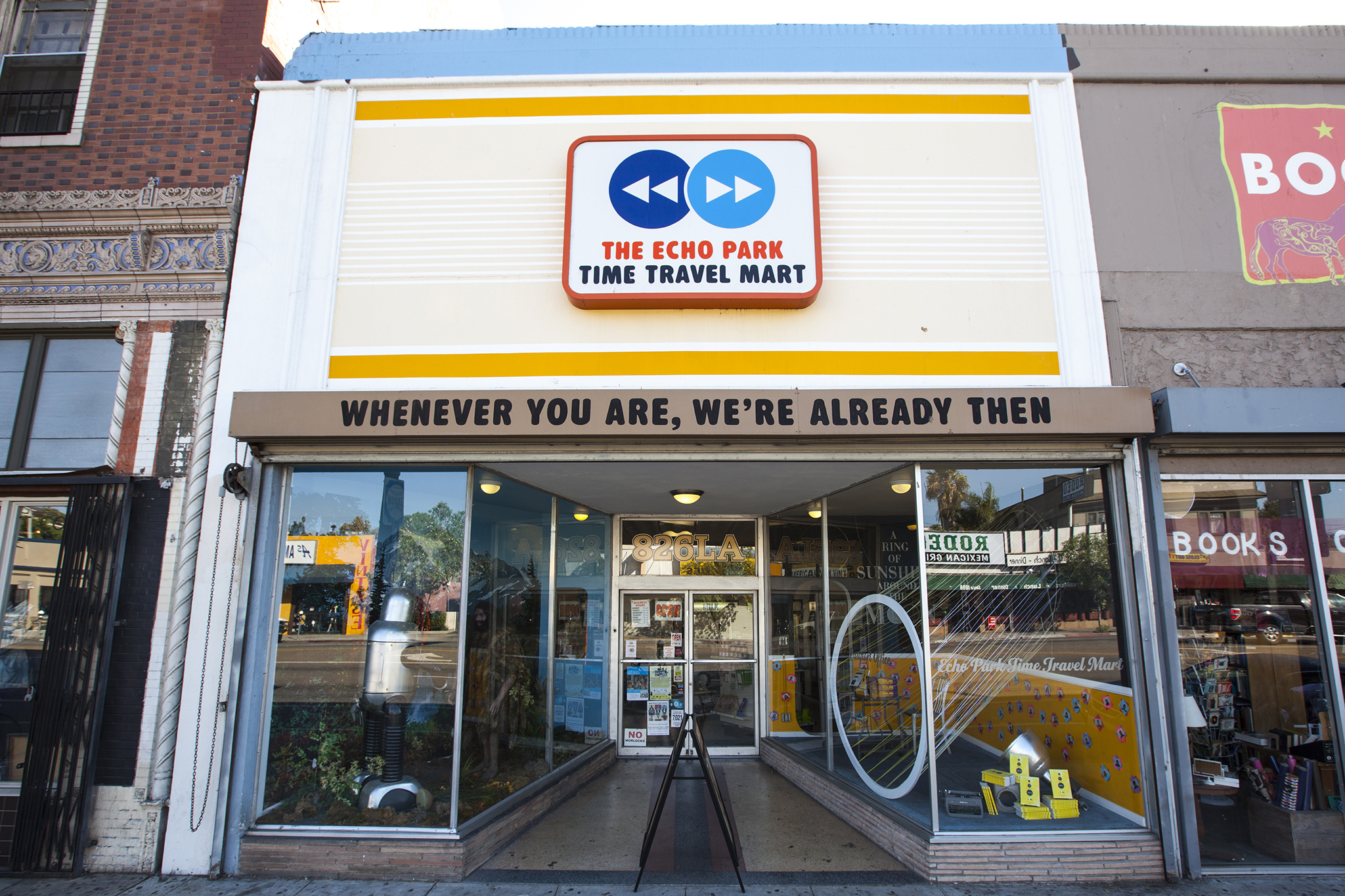 Best place to travel back in time while helping kids learn to read: Echo Park Time Travel Mart