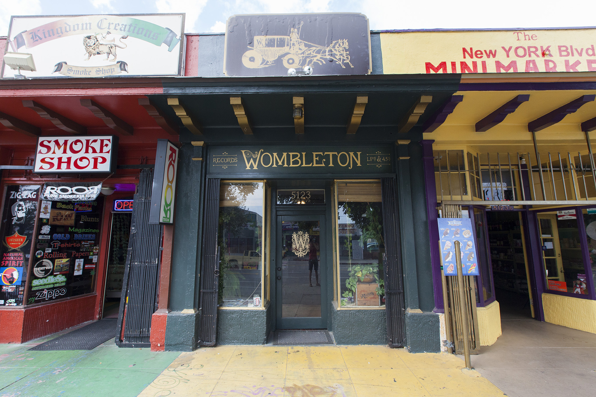 Wombleton Records Shopping In Highland Park Los Angeles