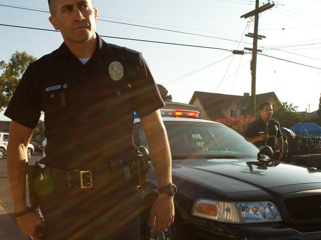 Jake Gyllenhaal, left, and Michael Pena in End of Watch