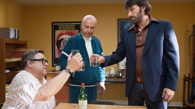 From left, John Goodman, Alan Arkin and Ben Affleck in Argo