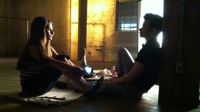 Glee's Kurt and Rachel in Bushwick