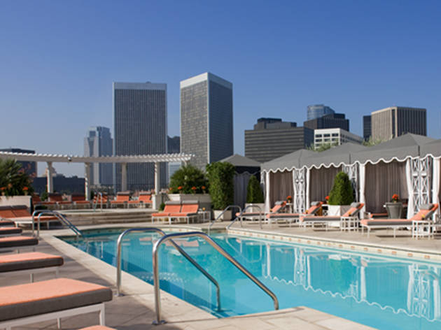 Peninsula Hotel rooftop pool
