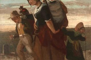 (Gustave Courbet, 'La Bohémienne et ses enfants', 1853-1854 / © Collection privée / © ADAGP, Paris 2012)