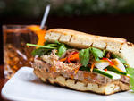 Pig's head banh mi at the Daily