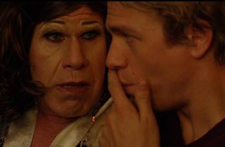 Ron Perlman, left, and Charlie Hunnam in 3, 2, 1…Frankie Go Boom