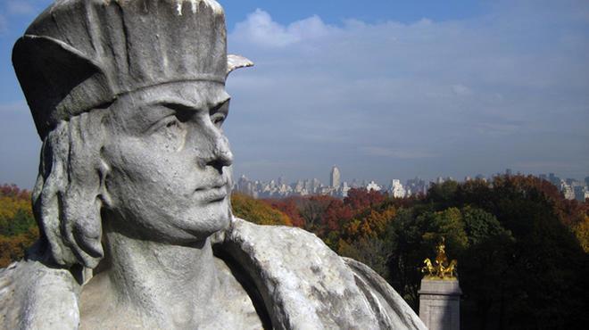 Christopher Columbus statue in Columbus Circle