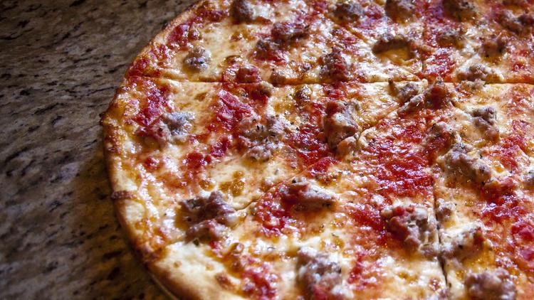 Sausage pie at Denino's Pizzeria Tavern