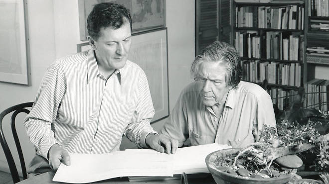 Petr Kotik and John Cage in 1992