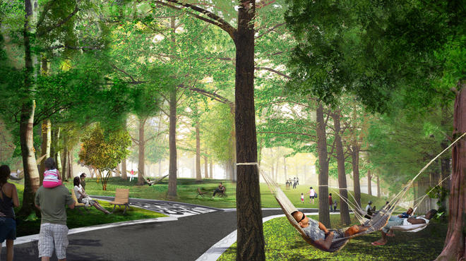 Hammock Grove, Governors Island, rendering