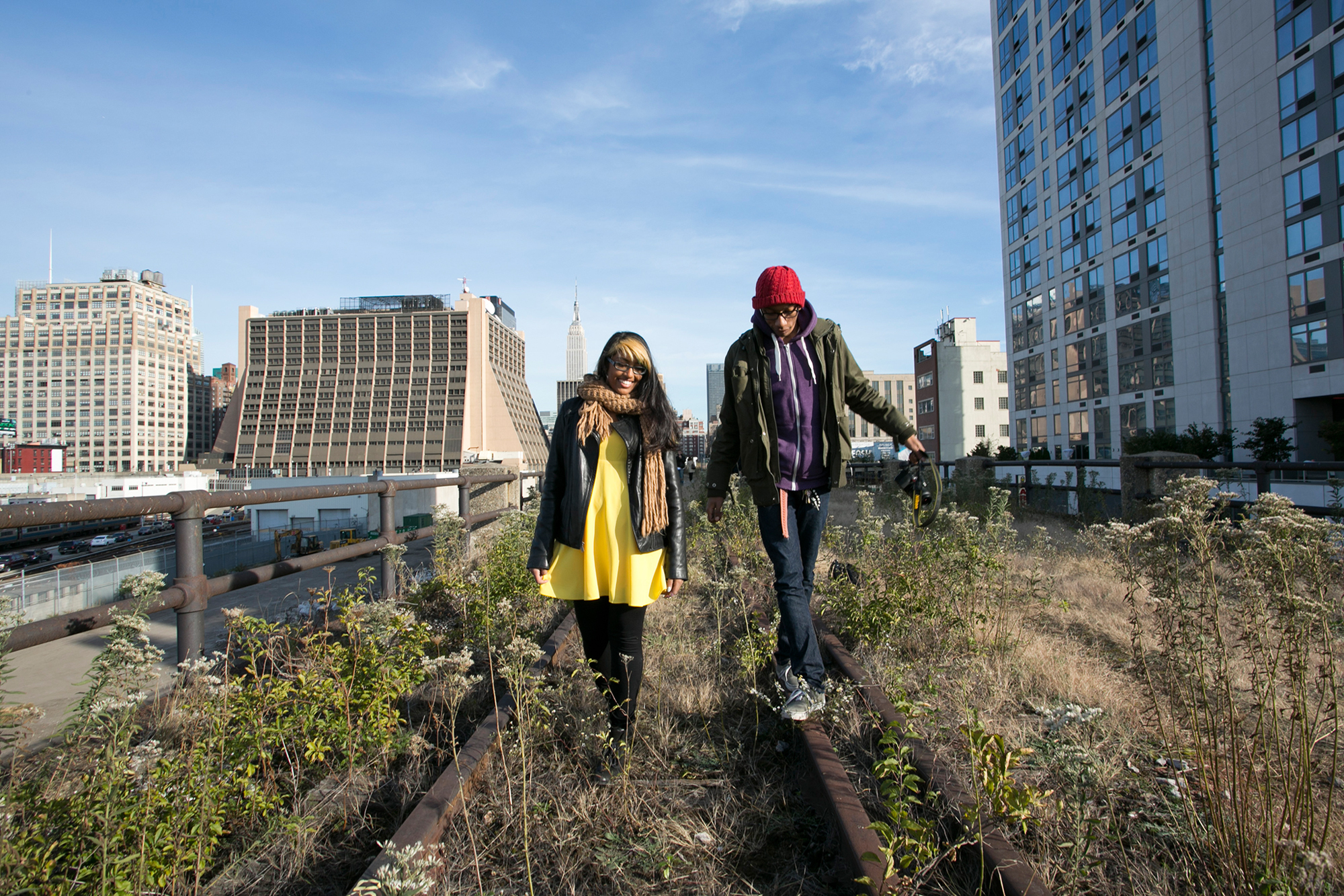 The High Line at the Rail Yards opened to the public