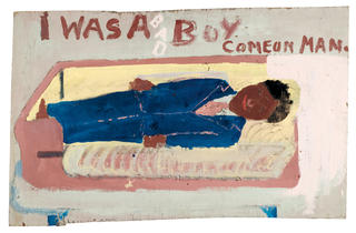 (Sam Doyle, 'Untitled (I was a Bad Boy Comeon Man)', 1902 / © The Museum of Everything)