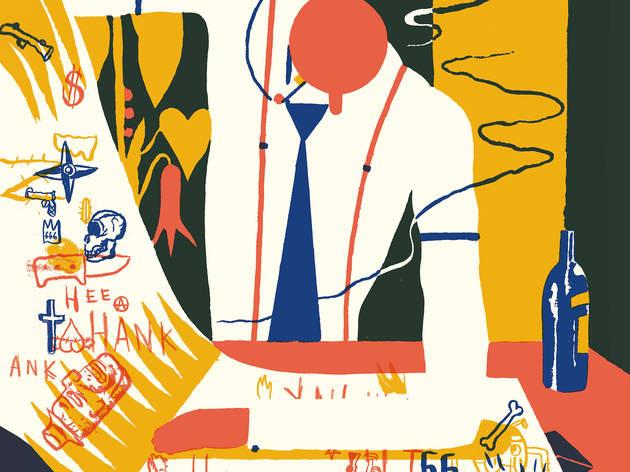 (Image numérique réalisée pour l'exposition d'après une gouache tirée du livre 'Hors-zone', éditions Cornélius / Courtesy Arts Factory)