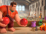 John C. Reilly, far left, voices the title character of Wreck-It Ralph