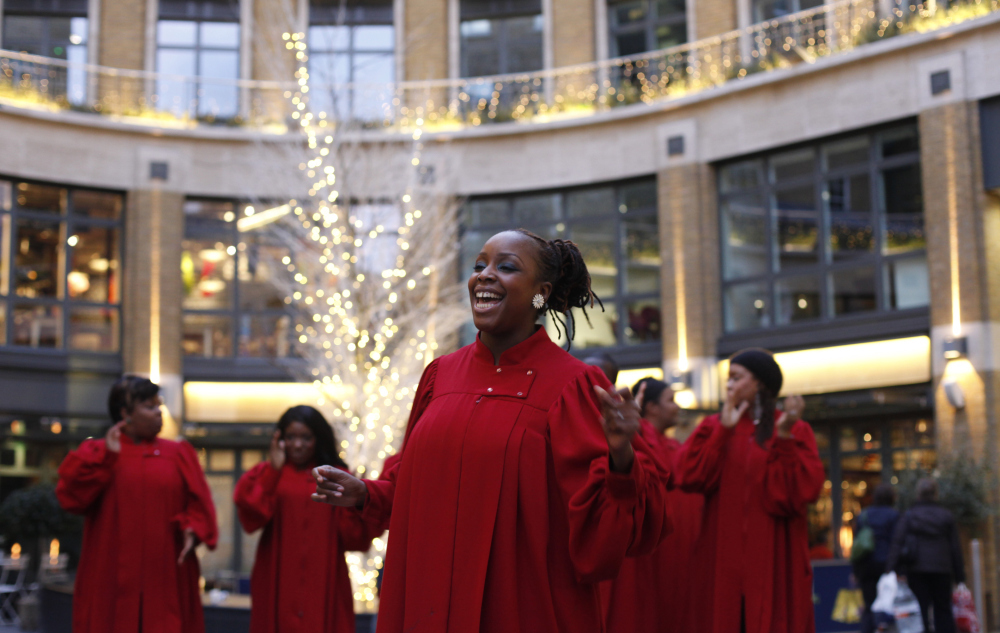 Christmas carols in London