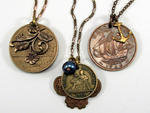 AdornmentsNYC vintage coins necklaces, $29–$36 each