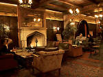 New York bars with fireplaces: Lobby Bar at the Bowery Hotel